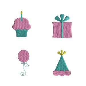 Mini Birthday Embroidery Set