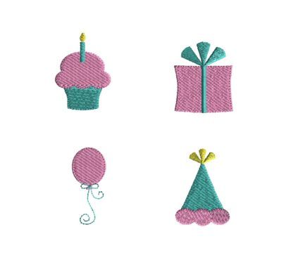 Mini Birthday Embroidery Set