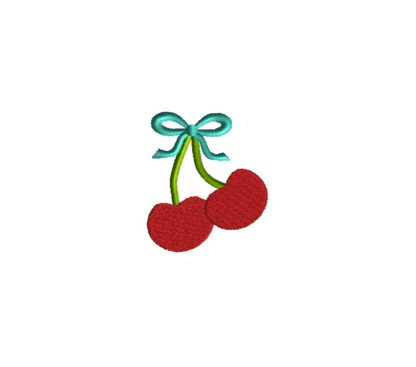 Mini Cherries Embroidery Design