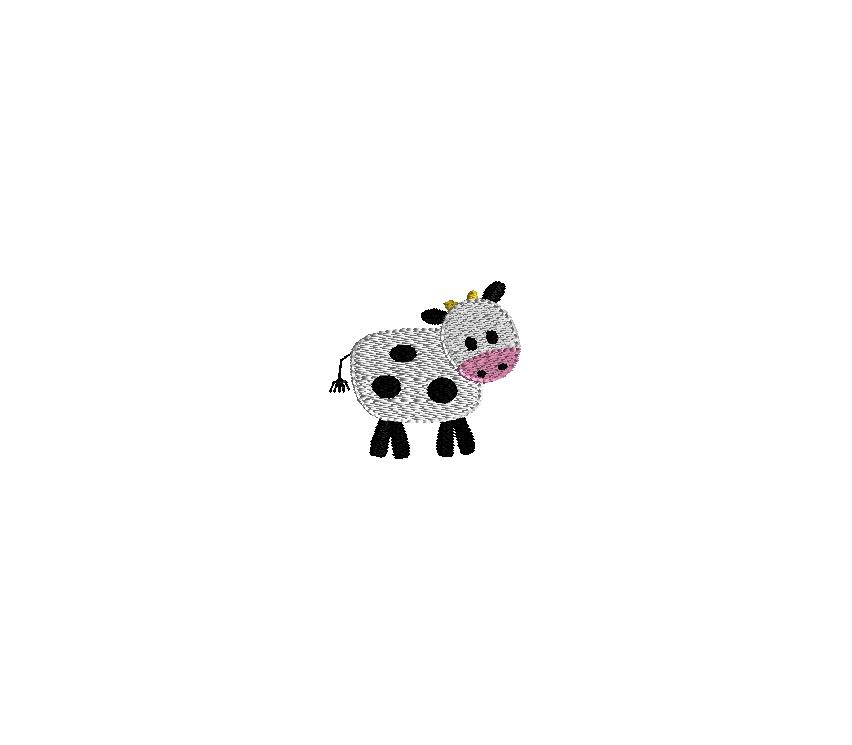 Mini Cow Embroidery Design
