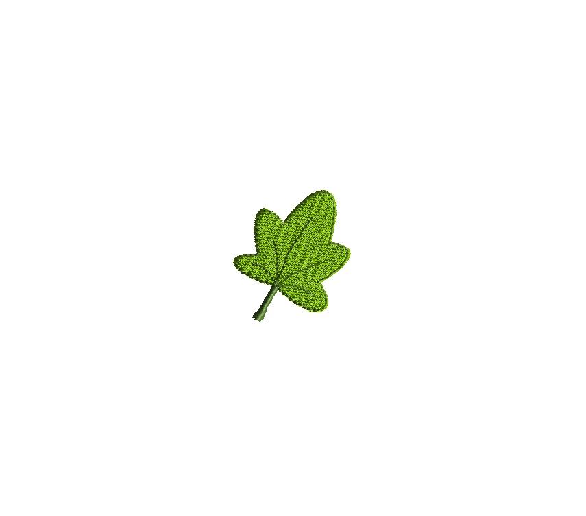 Mini Autumn Leaf Embroidery