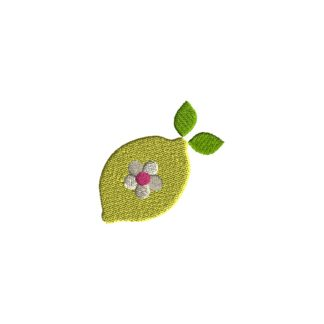 Mini Lemon Embroidery Design