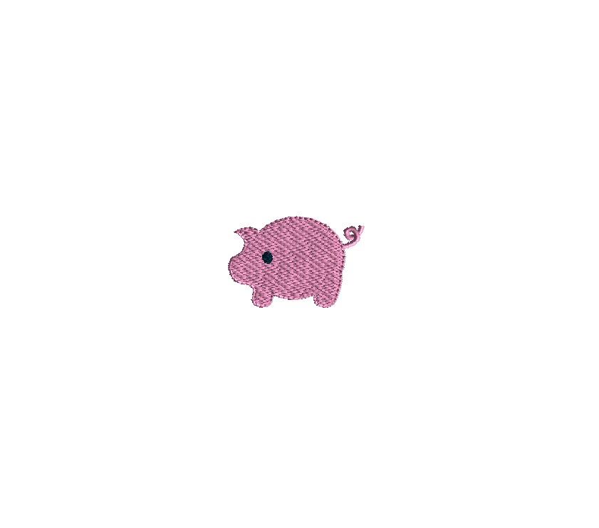 Mini Piggy Embroidery Design