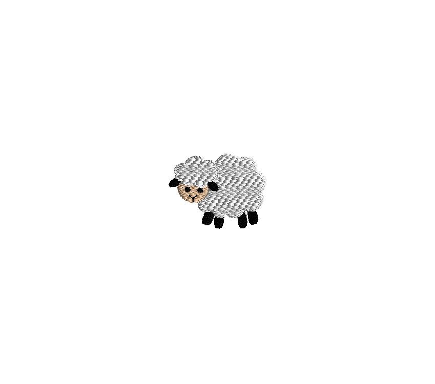 Mini Sheep Embroidery Design