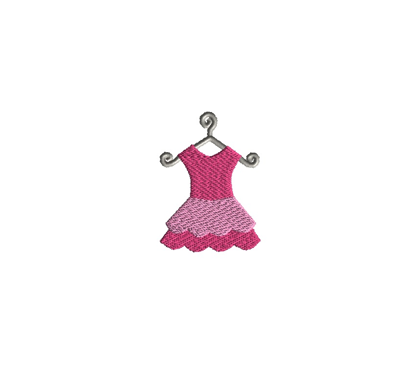 Mini Tutu Embroidery Design