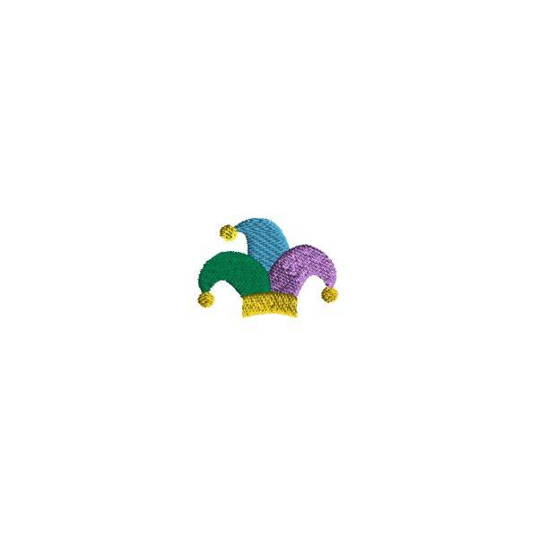 Mini Jester Hat Embroidery Design