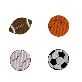 Mini Sports Balls Embroidery Set