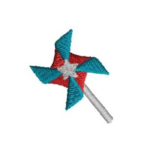 Mini Pinwheel Embroidery Design
