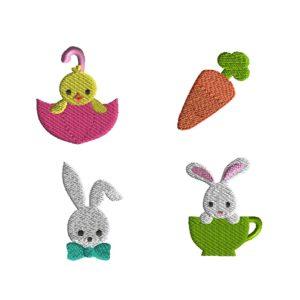 Mini Easter II Machine Embroidery Designs
