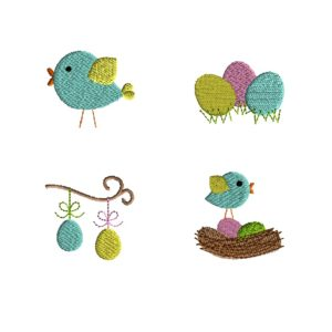 Mini Spring Easter Machine Embroidery Designs