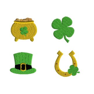 Mini St Patricks Day Filled Stitch Machine Embroidery Designs