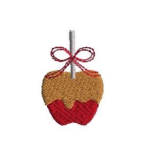 Mini Caramel Apple Machine Embroidery Design