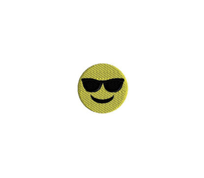 Mini Emoji Cool Face Machine Embroidery Design