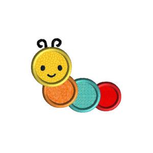 Caterpillar Applique Machine Embroidery Design 1