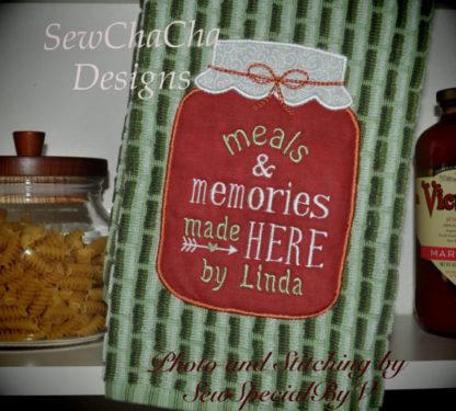 Mason Jar Applique Machine Embroidery Design 5