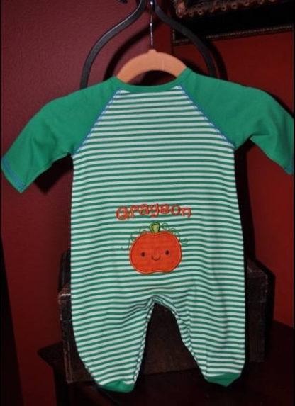 Cute Pumpkin Applique Machine Embroidery Design 4