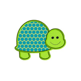 Turtle 2 Applique Machine Embroidery Design 1