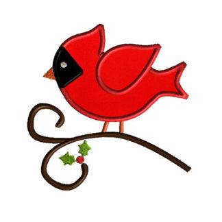 Cardinal Applique Machine Embroidery Design 1