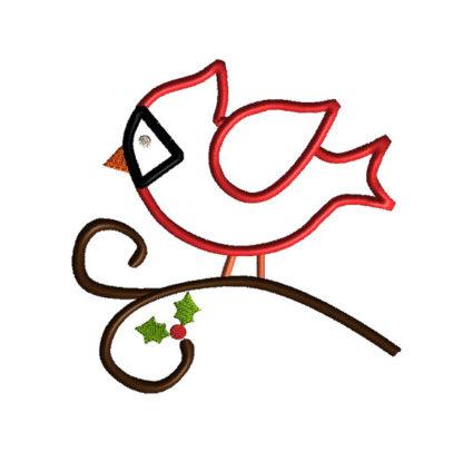 Cardinal Applique Machine Embroidery Design 2