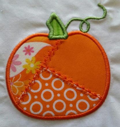 Patchwork Pumpkin Applique Machine Embroidery Design 3