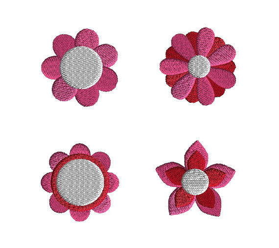 Mini Flowers Machine Embroidery Design Set