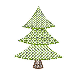 Lace Motif Christmas Tree Applique Machine Embroidery Design 1