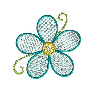 Lace Motif Flower Applique Machine Embroidery Design 1
