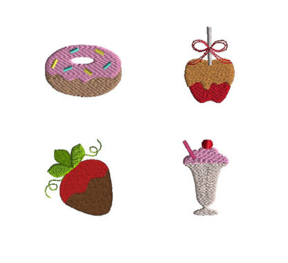 Mini Yum Yum Machine Embroidery Design Set