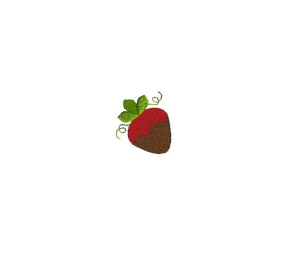 Mini Chocolate Strawberry Embroidery Design