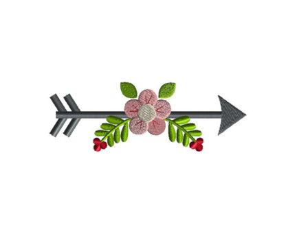 Arrow Flower Applique Machine Embroidery Design 1