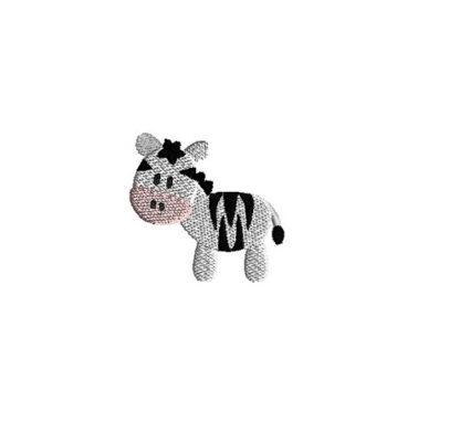 Mini Zebra Embroidery Design