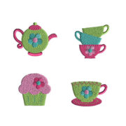 Mini Tea Party Machine Embroidery Design Set