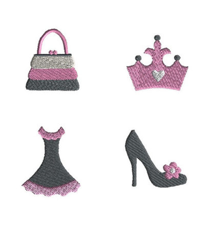 Mini Diva Machine Embroidery Design Set