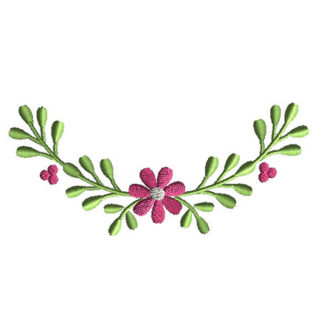Berry Border Applique Machine Embroidery Design 1