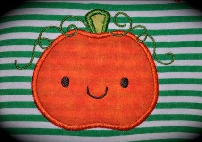 Cute Pumpkin Applique Machine Embroidery Design 5