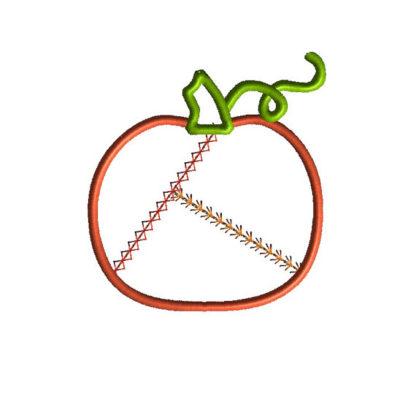 Patchwork Pumpkin Applique Machine Embroidery Design 1