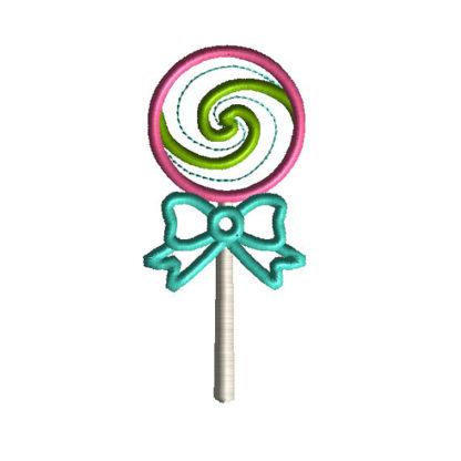 Lollipop Applique Machine Embroidery Design 2