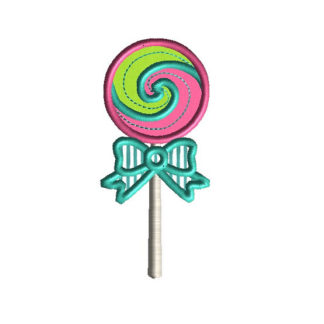 Lollipop Applique Machine Embroidery Design 1