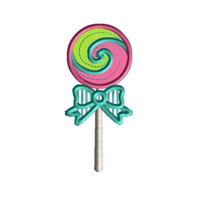 Lollipop Applique Machine Embroidery Design 1