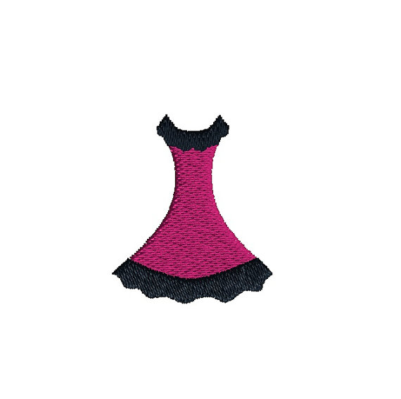 Mini Dress Embroidery Design