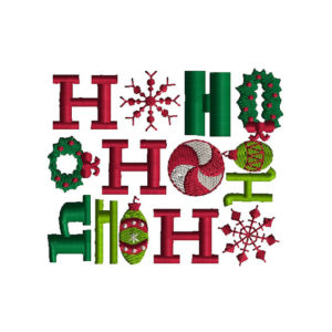 Ho Ho Ho Applique Machine Embroidery Design