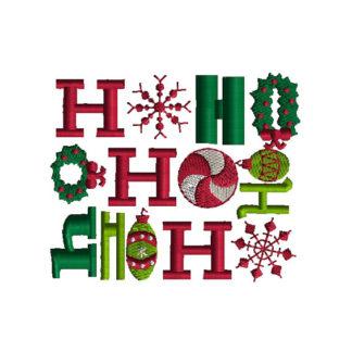 Ho Ho Ho Applique Machine Embroidery Design