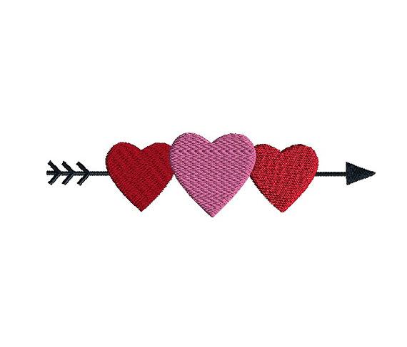 Heart Border Applique Machine Embroidery Design 1