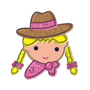 Cowgirl Applique Machine Embroidery Design 1
