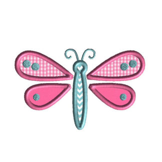 Little Dragonfly Applique Machine Embroidery Design 1