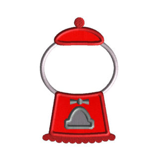 Gumball Machine Applique Machine Embroidery Design 1