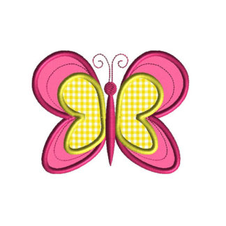 Butterfly III Applique Machine Embroidery Design 1