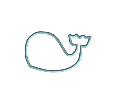 Whale No Face Applique Machine Embroidery Design 2