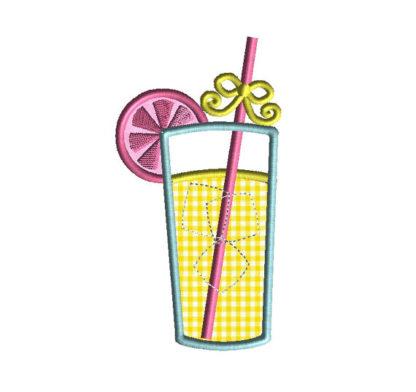 Lemonade Applique Machine Embroidery Design 1