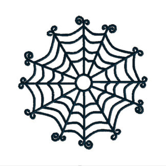 Spider Web Applique Machine Embroidery Design